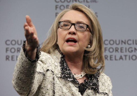 Buvusi JAV valstybės sekretorė Hillary Clinton