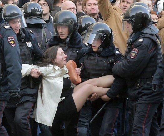 """""""Scanpix""""/AP nuotr./Protestai Rusijoje"""