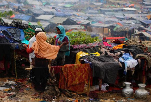 """""""Reuters""""/""""Scanpix"""" nuotr./Rohinjai pabėgėliai Bangladeše"""