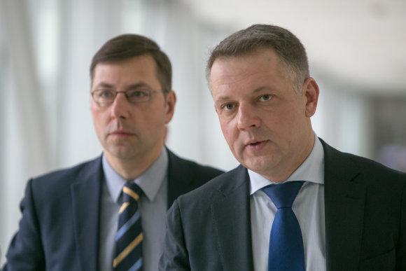 Juliaus Kalinsko/15min.lt nuotr./Gintaras Steponavičius ir Eligijus Masiulis
