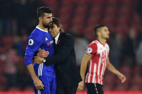 """AFP/""""Scanpix"""" nuotr./Antonio Conte ir Diego Costa"""