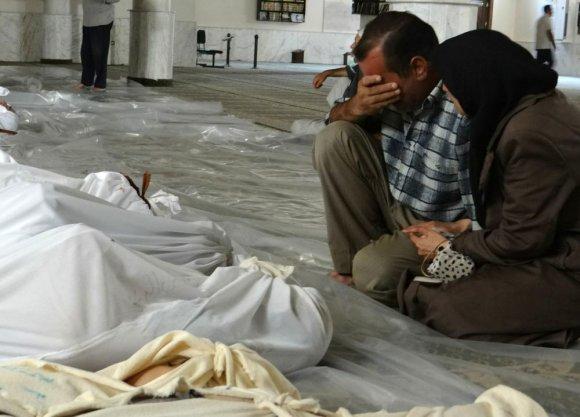 """AFP/""""Scanpix"""" nuotr./Sirija po cheminės atakos 2013 metų rugpjūtį"""