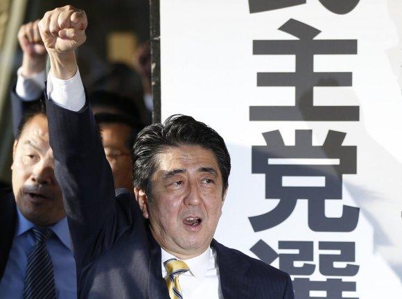 """Reuters""/""Scanpix"" nuotr./Japonijos premjeras Shinzo Abe"