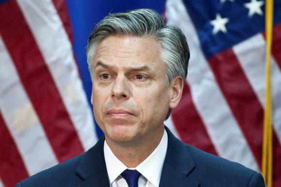 """""""Reuters""""/""""Scanpix"""" nuotr./JAV ambasadoriaus Rusijoje pareigas netrukus užimsiantis Jonas Huntsmanas"""