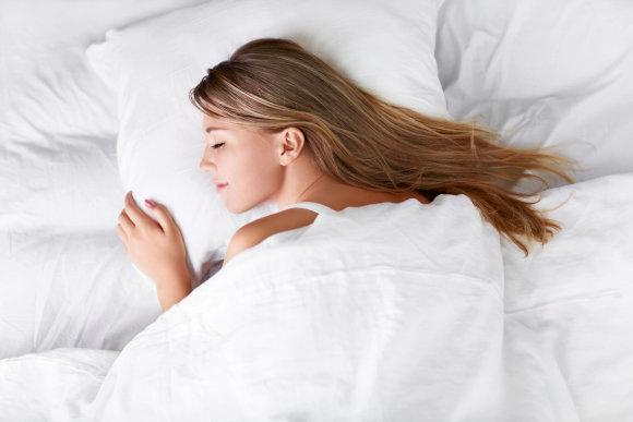Vida Press nuotr./Mieganti moteris
