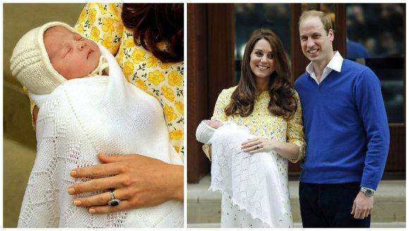 """""""Scanpix"""" nuotr./Kembridžo hercogienė Catherine ir princas Williamas su dukra Charlotte"""