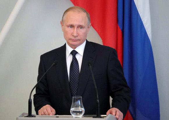 """""""Reuters""""/""""Scanpix"""" nuotr./Vladimiras Putinas Suomijoje"""