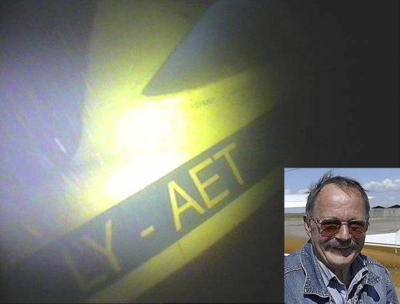 15min.lt montažas/Povandeninės kameros sudužusiame lėktuve užfiksavo piloto A.Mačiulio kūną