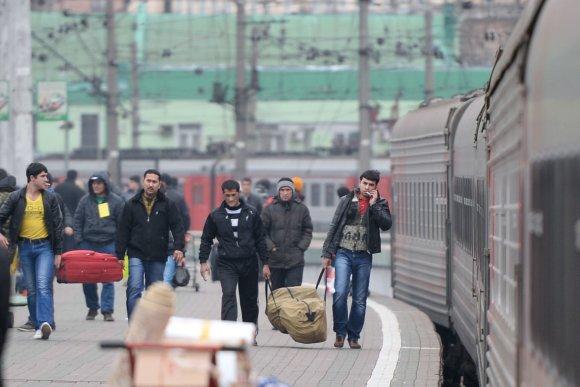 """""""Scanpix""""/""""Sputnik"""" nuotr./Imigrantai Rusijoje"""