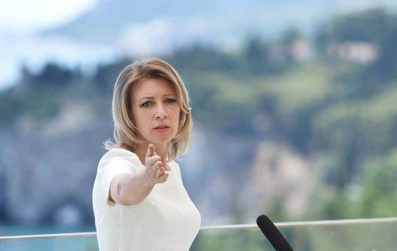 """""""Scanpix"""" nuotr./Rusijos užsienio reikalų ministerijos atstovė Marija Zacharova"""