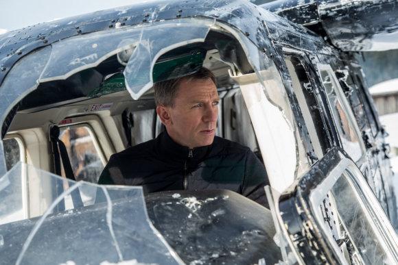 """Kadras iš filmo/Danielis Craigas filme apie Džeimsą Bondą """"Spektras"""""""
