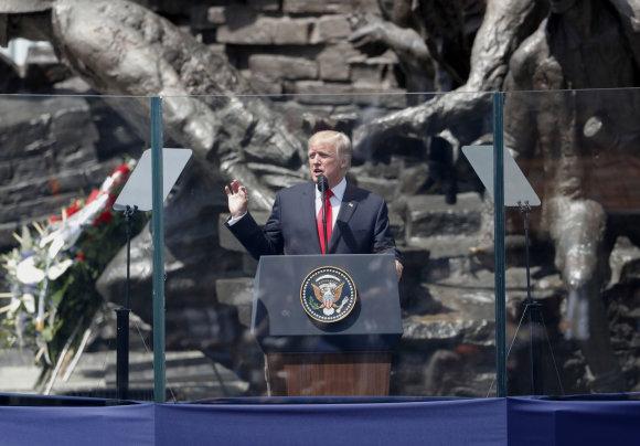 """Scanpix""/AP nuotr./Donaldas Trumpas Lenkijoje"