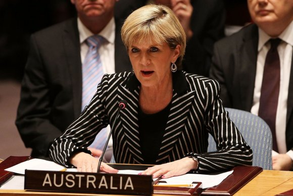 "AFP/""Scanpix"" nuotr./Australijos užsienio reikalų ministrė Julie Bishop"