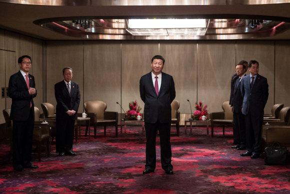 """""""Reuters""""/""""Scanpix"""" nuotr./Xi Jinpingas Honkonge"""