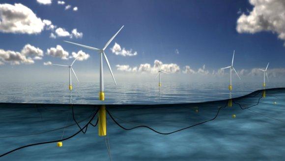 gov.scot nuotr./Vėjo jėgainių parkas