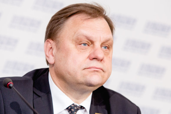 Luko Balandžio / 15min nuotr./Lietuvos verslo konfederacijos prezidentas Valdas Sutkus