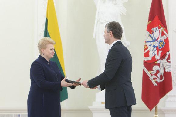 Juliaus Kalinsko/15min.lt nuotr./Dalia Grybauskaitė ir Darius Jauniškis
