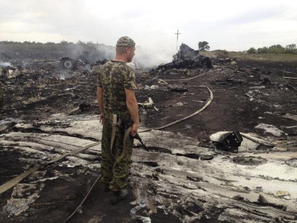 """""""Reuters""""/""""Scanpix"""" nuotr./MH17 katastrofos vieta"""