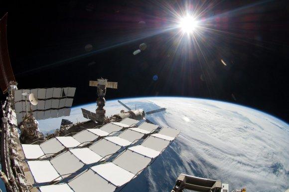 """""""Scanpix""""/AP nuotr./AMS detektorius Tarptautinėje kosminėje stotyje"""