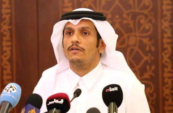 """Reuters""/""Scanpix"" nuotr./Kataro diplomatijos vadovas šeichas Mohammedas bin Abdulrahmanas al Thani"
