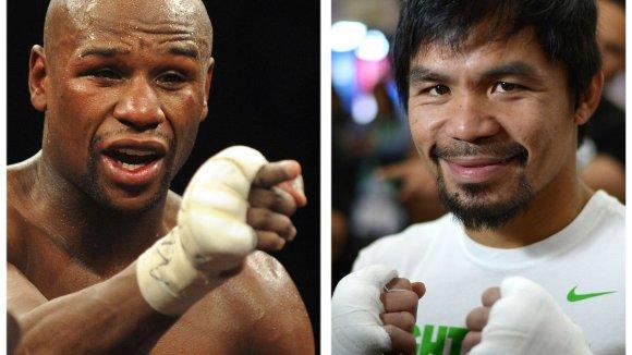 "AFP/""Scanpix"" nuotr./Floydas Mayweatheris ir Manny Pacquiao"