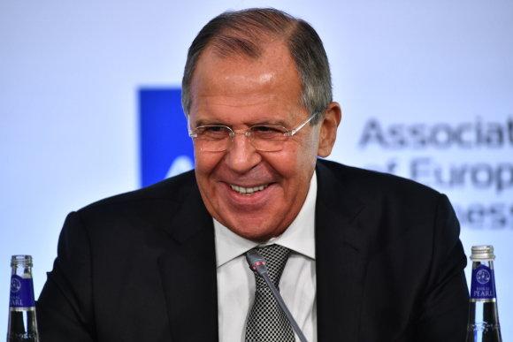 """""""Scanpix"""" nuotr./Rusijos užsienio reikalų ministras Sergejus Lavrovas"""