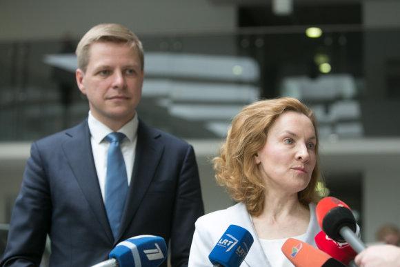 Juliaus Kalinsko/15min.lt nuotr./Remigijus Šimašius ir Alma Vaitkunskienė