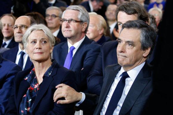 """Reuters""/""Scanpix"" nuotr./Penelope Fillon su vyru Francois"