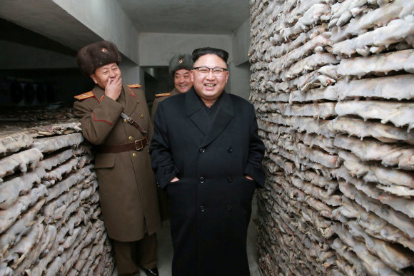 """Reuters""/""Scanpix"" nuotr./Šiaurės Korėjos lyderis Kim Jong Unas"