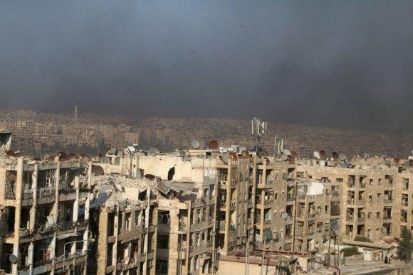 """""""Reuters""""/""""Scanpix"""" nuotr./Sirijos mieste Alepe intensyvėja kariniai veiksmai"""