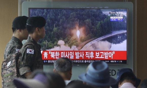 """""""Scanpix""""/AP nuotr./Šiaurės Korėjoje atliktas dar vienas raketos bandymas"""