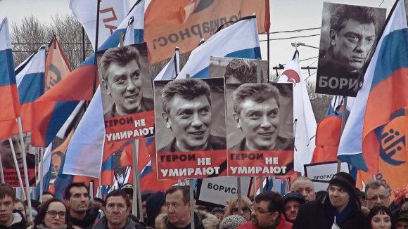 """Kadras iš filmo /Kadras iš filmo """"Mano draugas Borisas Nemcovas"""""""