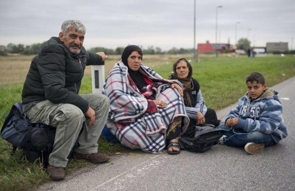 """""""Reuters""""/""""Scanpix"""" nuotr./Pabėgėliai Vengrijoje"""