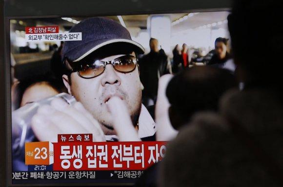 """Scanpix""/AP nuotr./Kim Jong Namas televizijos reportaže"