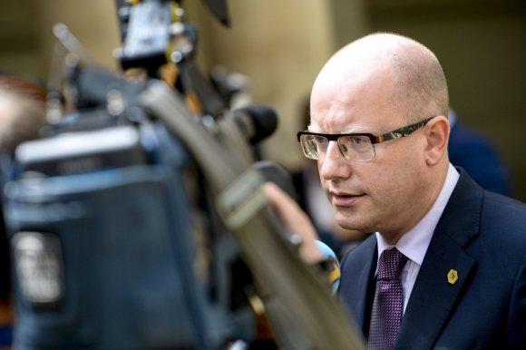 """AFP/""""Scanpix"""" nuotr./Čekijos ministras pirmininkas Bohuslavas Sobotka"""