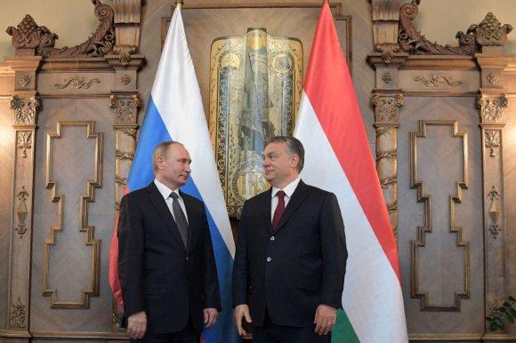 """AFP/""""Scanpix"""" nuotr./Rusijos prezidento vizitas Vengrijoje"""