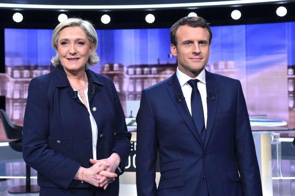 SIPA/Marine Le Pen ir Emmanuelis Macronas debatuose