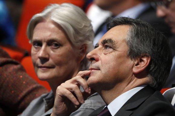 """Reuters""/""Scanpix"" nuotr./Penelope Fillon ir Francois Fillonas"