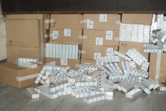 Muitinės nuotr./Cigarečių kontrabanda