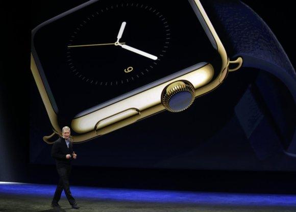 """Scanpix nuotr./""""Apple"""" pristatė išmanų laikrodį """"Apple Watch"""" ir ploniausią """"MacBook"""""""