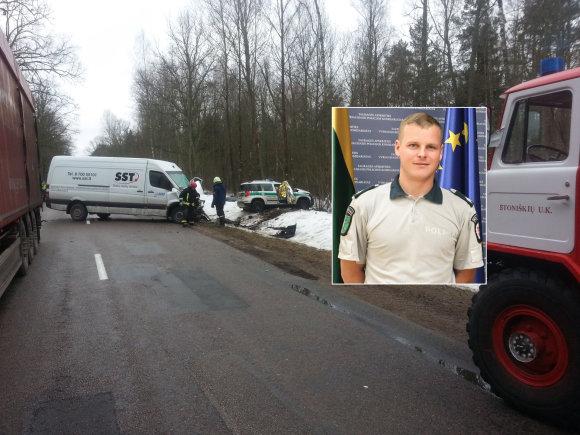 15min nuotr./Avarijos metu žuvęs pareigūnas Tomas Srugys