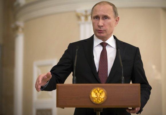 """""""Scanpix""""/AP nuotr./Rusijos prezidentas Vladimiras Putinas"""