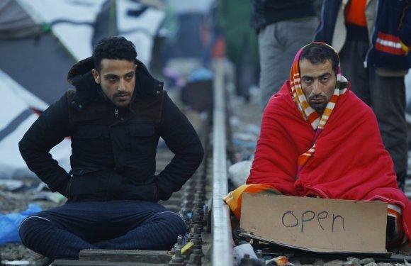 """""""Reuters""""/""""Scanpix"""" nuotr./Makedonijoje sulaikyti migrantai, kurie nėra karo pabėgėliai"""