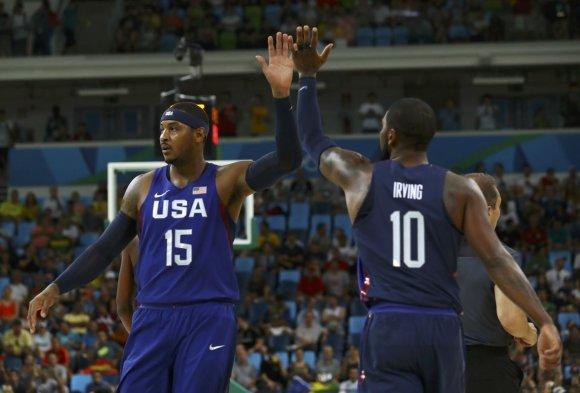 "AFP/""Scanpix"" nuotr./Carmelo Anthony ir Kevinas Durantas"