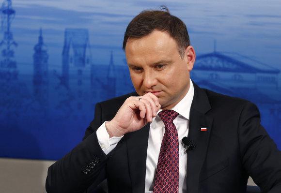 """Reuters""/""Scanpix"" nuotr./Lenkijos prezidentas Andrzejus Duda"
