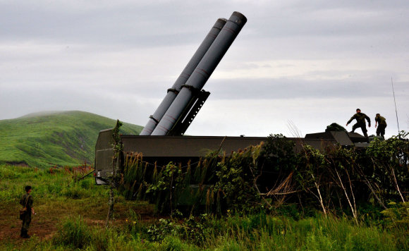 """""""Scanpix"""" nuotr./Mobilusis pakrančių gynybos raketų kompleksas """" Bastion"""""""