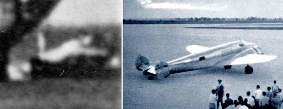 """""""Scanpix""""/AP ir womeninaerospacehistory.com nuotr./Amelios Earhart lėktuvas """"Lockheed Model 10 Electra"""" buvo įžvelgtas nuotraukos dešiniajame krašte."""