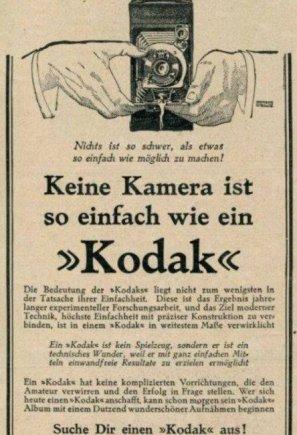 """Wikipedia.org nuotr./Vokiška tarpukario laikotarpio """"Kodak"""" reklama"""