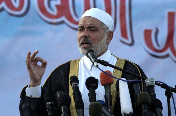 "AFP/""Scanpix"" nuotr./""Hamas"" premjeras Ismailas Haniya"