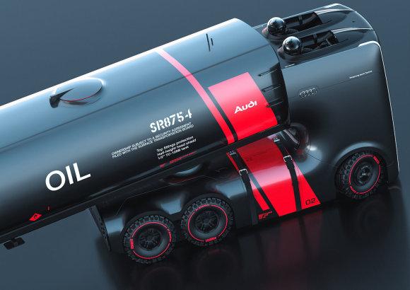"""interestingengineering.com nuotr./""""Audi"""" sunkvežimių koncepcijos"""